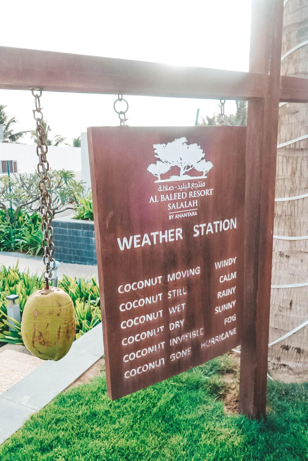 al-baleed-resort-anantara-wetterstation-kokosnuss