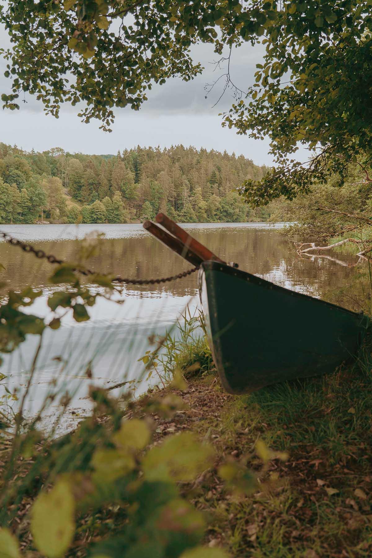 seen-bayerischer-wald-hoellensteinsee-holzboot